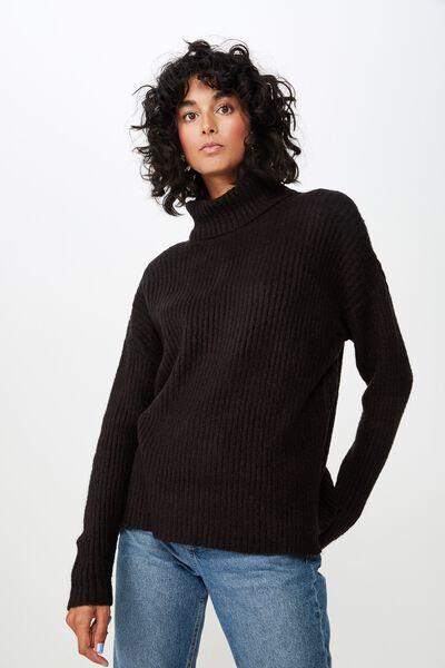 Connie Knit Co-Ord, BLACK