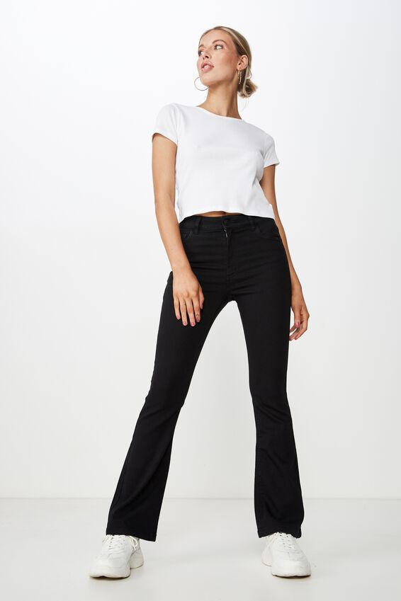 The Flare Jean, BLACK