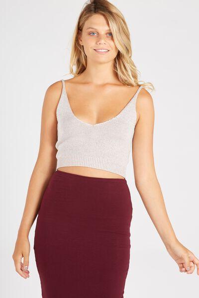 Chelsea Knit Cami, BLUSH/SILVER
