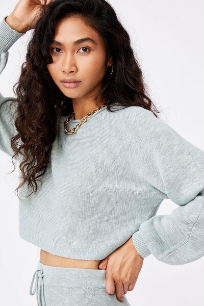 Holly Puff Sleeve Knit, MATCHA GREEN