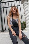 Leila Zip Detail Bum Bag, BLACK