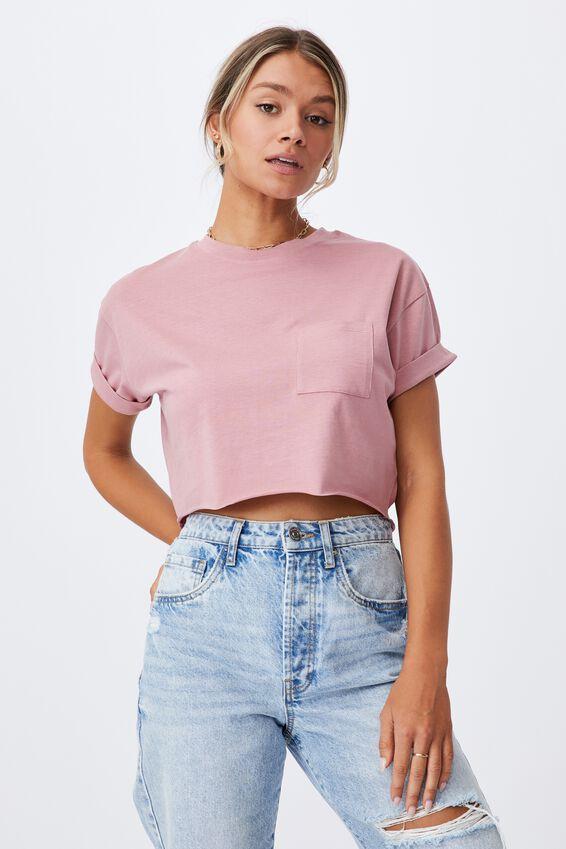Ciara Crop T Shirt, MISTY ROSE