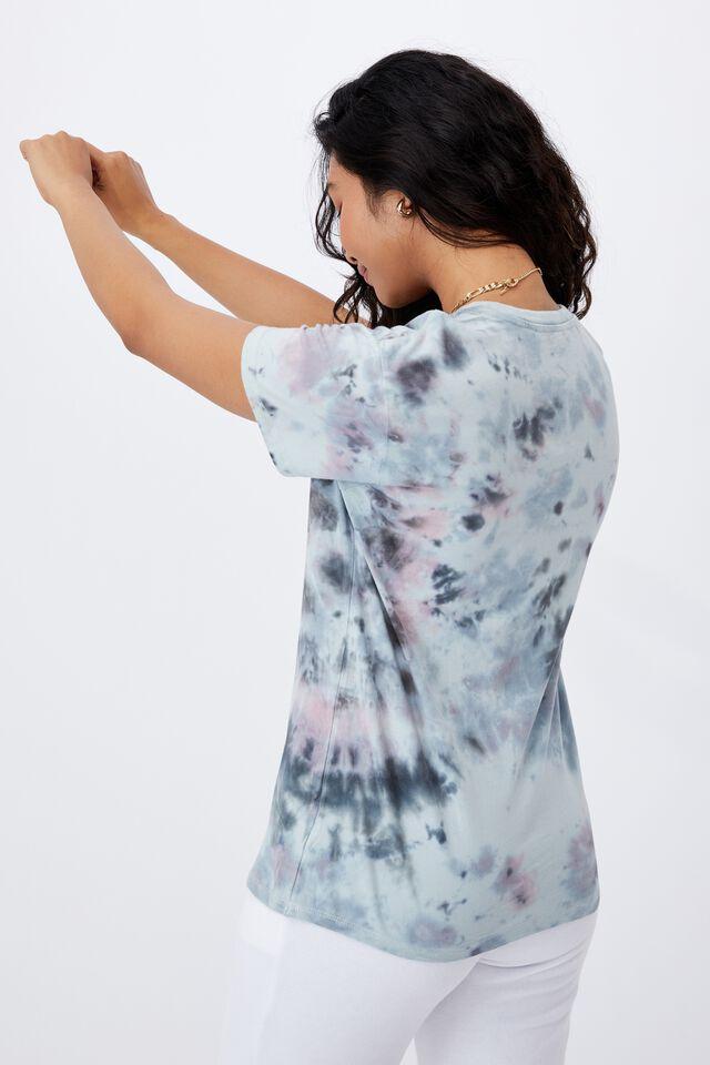 Tie Dye Longline T Shirt, MULTI COLOUR TIE DYE