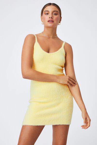 Melissa Fluffy Mini Dress, DOUBLE CREAM