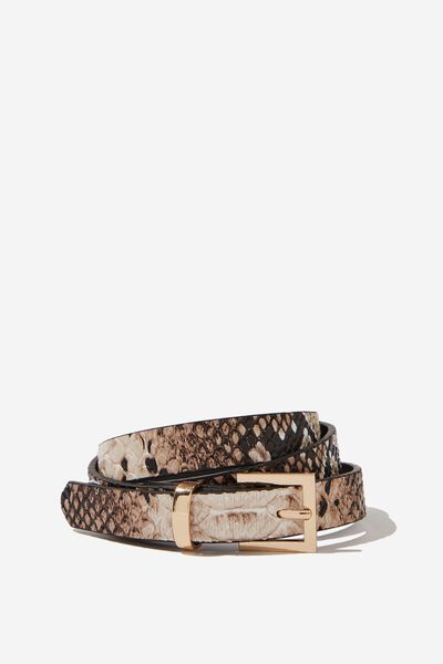 Wild Thing Skinny Belt, SNAKE/GOLD