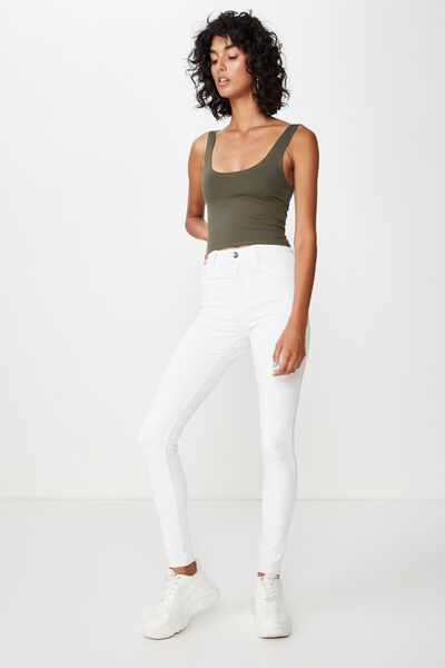 Long Super Skinny Jean, WHITE
