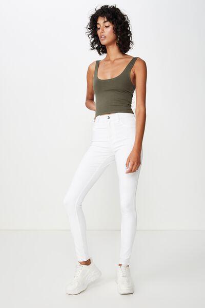 Long Super Skinny Jean, WHITE