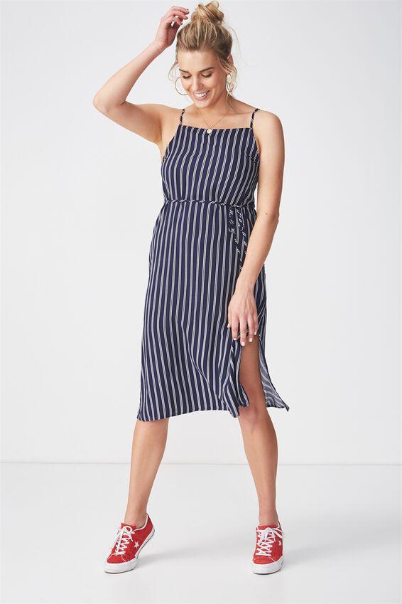 Phoenix Strappy Midi Dress | Tuggl