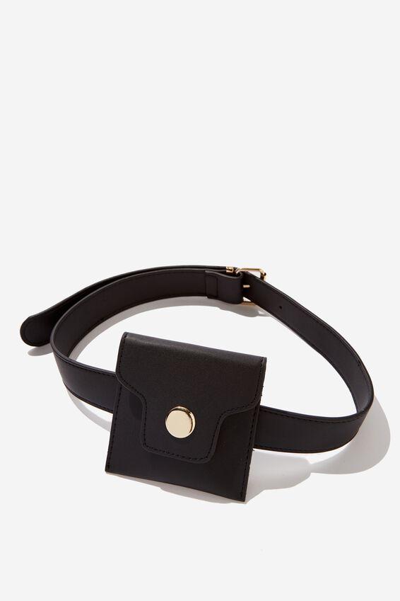 Mini Belt Bag, BLACK