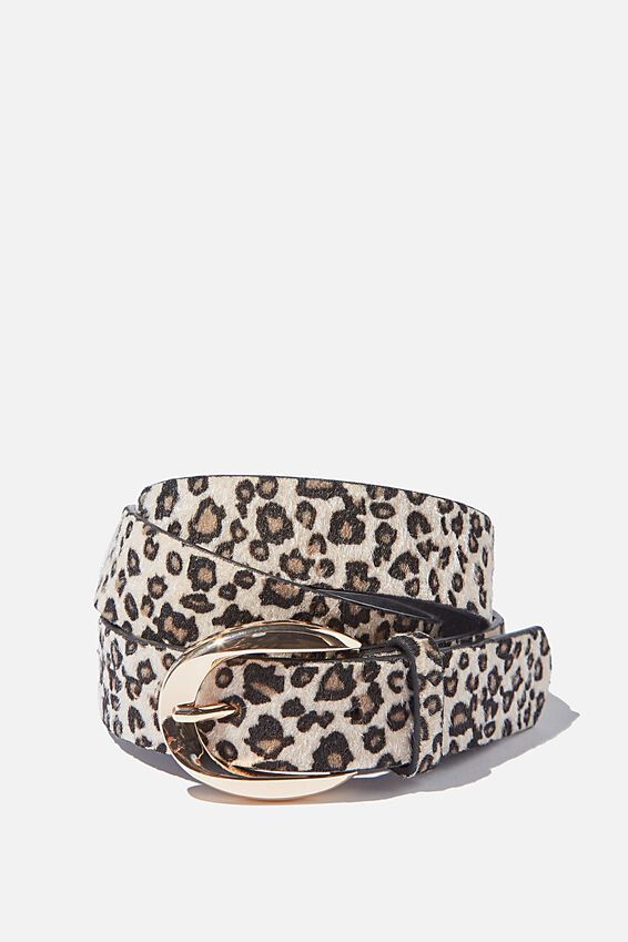 Leopard Print Belt, LEOPARD GOLD