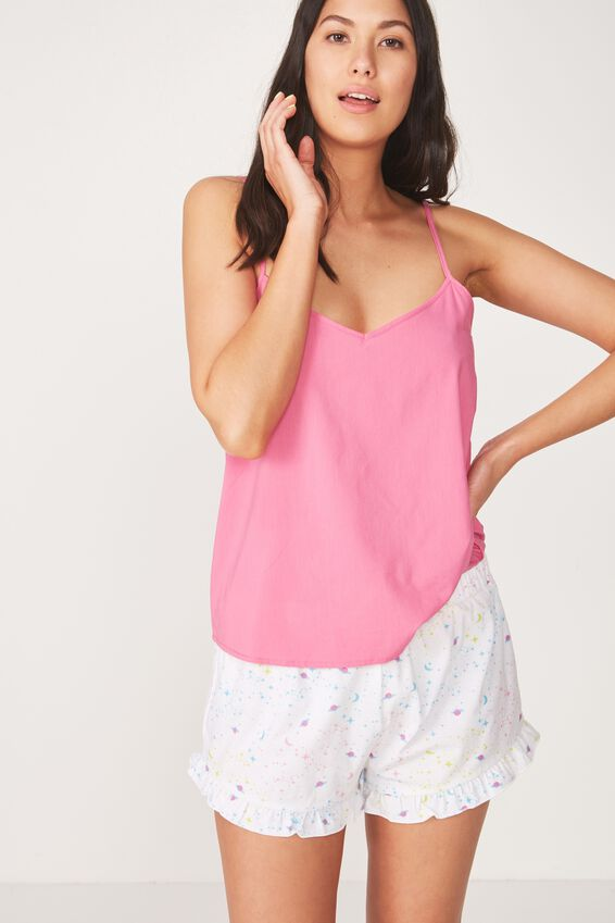 Frill Hem Sleep Short, COLOURFUL/GALAXY