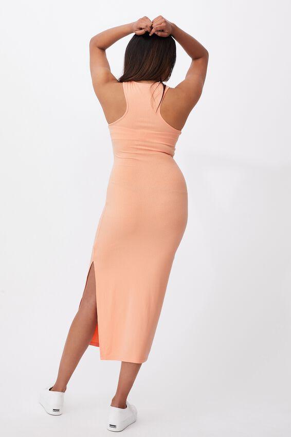 Brynn Rib Maxi Dress, BLUSH CORAL
