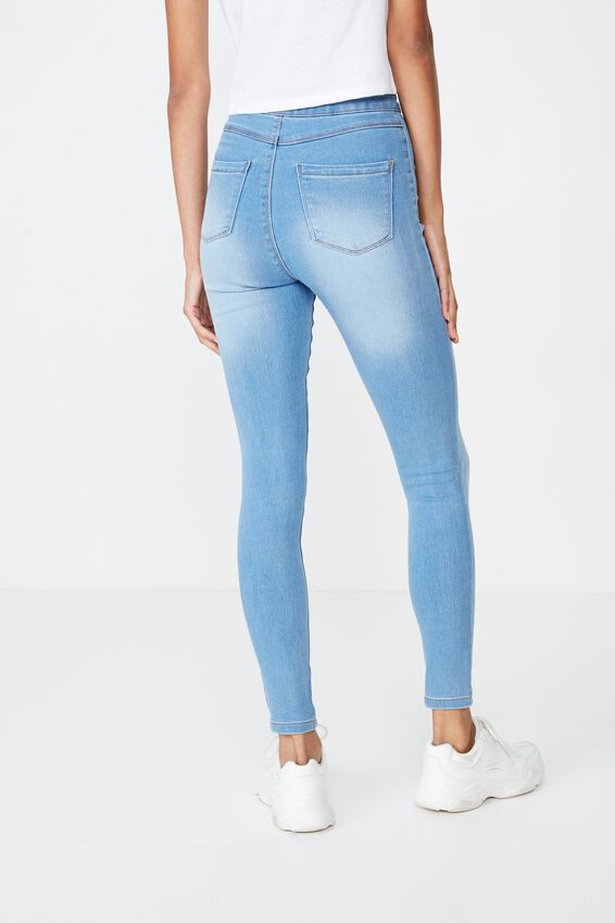 Long Super Skinny Sky High Jean, WAVE BLUE