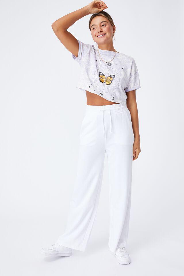 Tamara Printed Crop T Shirt, LILAC HAZE/BUTTERFLY