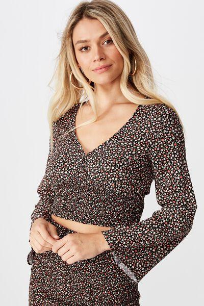 Nikki Bell Sleeve Top, VINTAGE DITSY