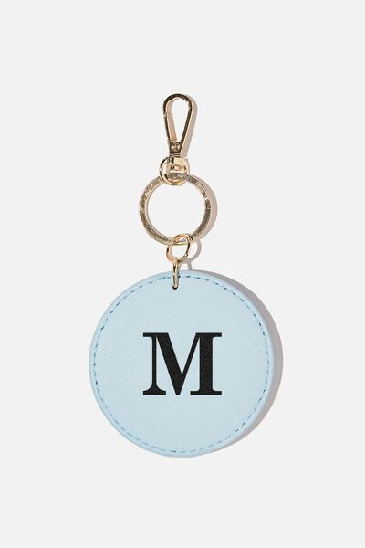 Personalised Key Ring With Mirror, BABY BLUE TEXTURE