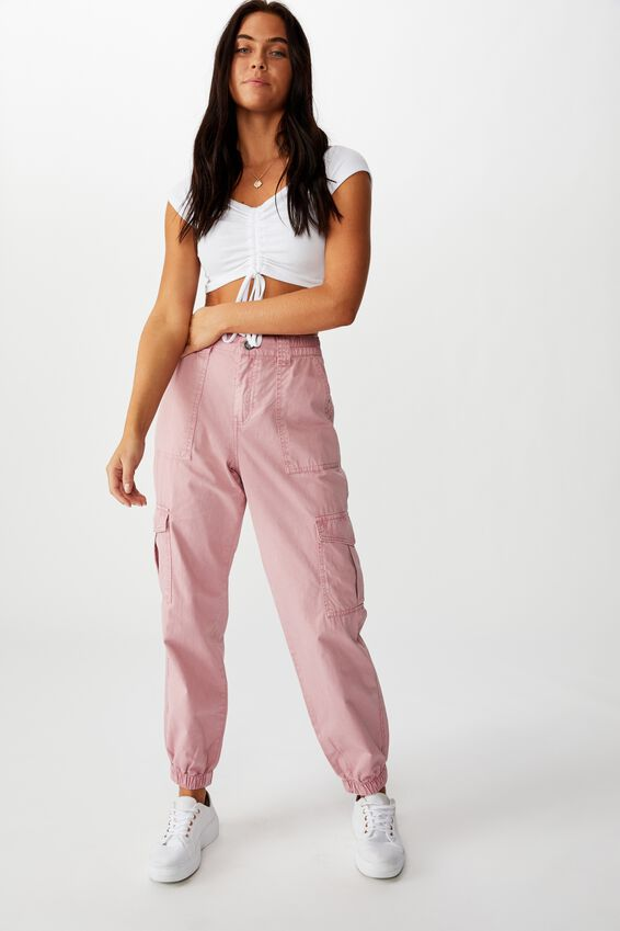 Kendra Cargo Pant, ANTIQUE ROSE