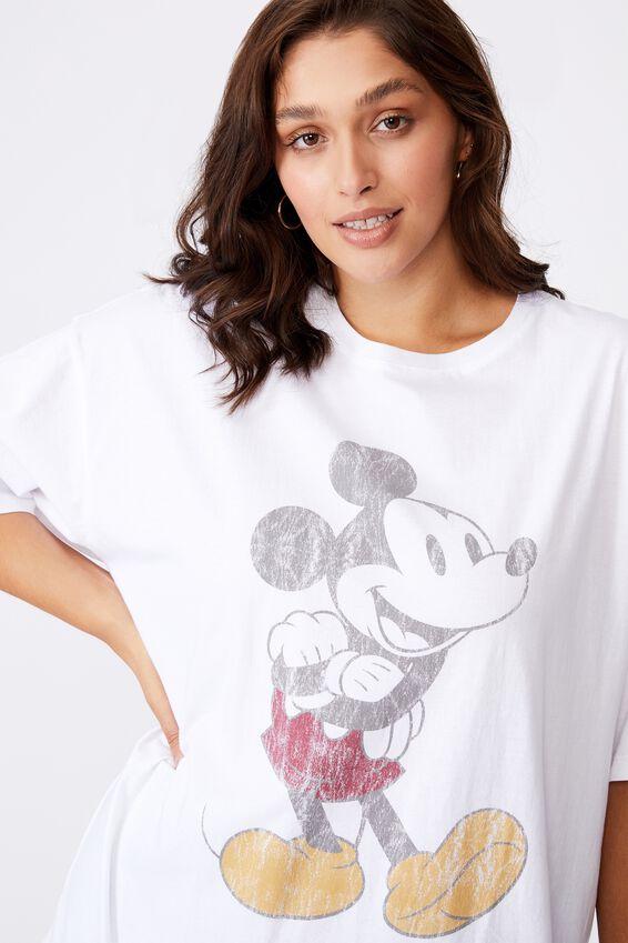 Mickey Oversized Tee, WHITE/LCN DIS CLASSIC MICKEY