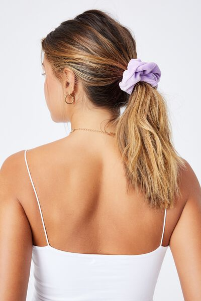 Brushed Scrunchie, SHEER LILAC