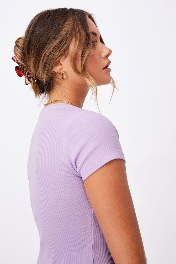 Lucia Rib Tee Mini Dress, SWEET LILAC