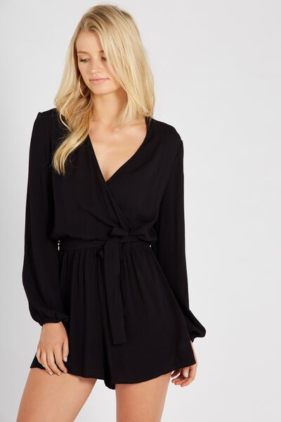 Annabelle Playsuit, BLACK