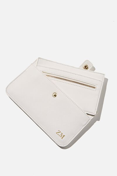 Personalised Multi Card Clutch, WHITE TEXTURE GOLD