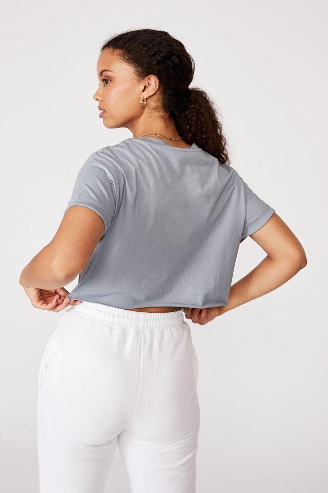 Tamara Printed Crop T Shirt, NEWPORT BLUE/CALI MOTORS