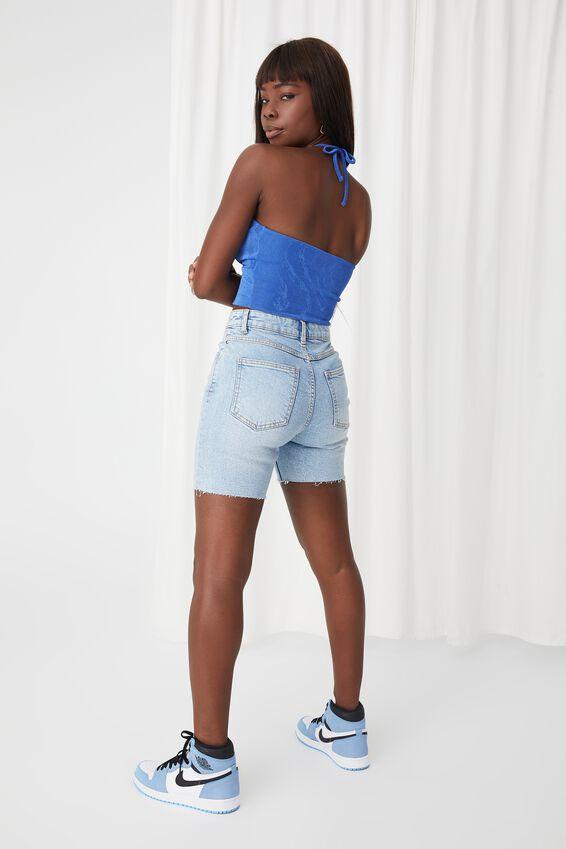 Stretch Bermuda Denim Short, HORIZON BLUE