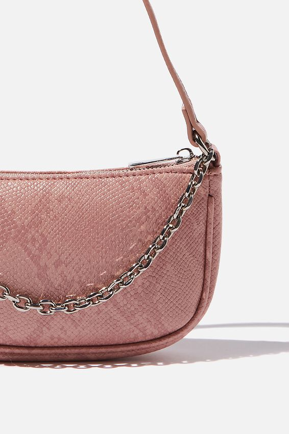 Abbey Chain Textured Shoulder Bag, FRUITY SNAKE