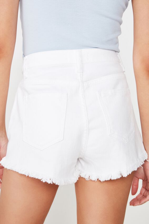 Bondi Denim Short, LACE UP WHITE