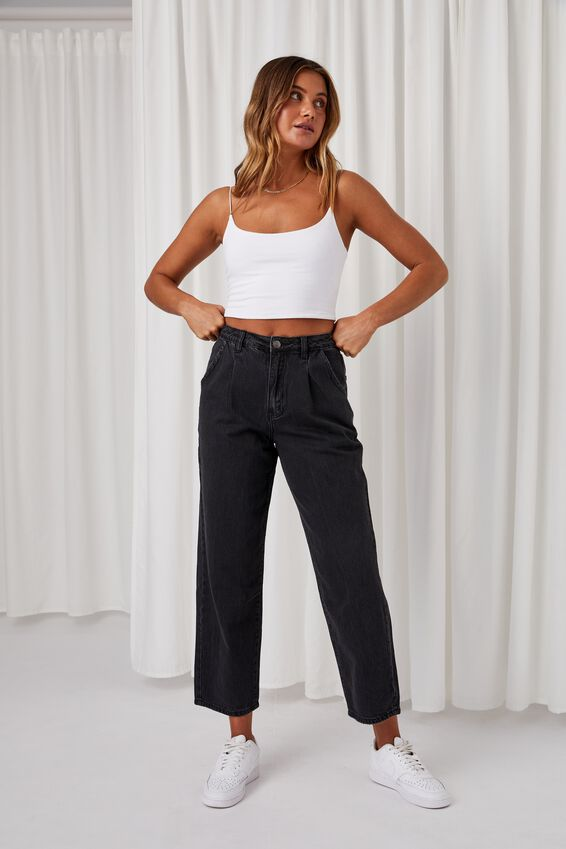 Slouch Jean, WASHED BLACK