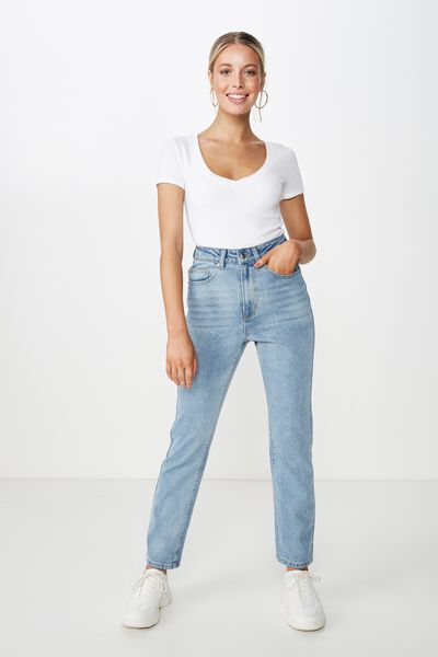 Straight Denim Jean, TEXAS BLUE