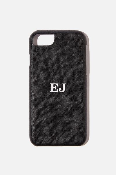 Personalised Phone Covers, 6/7/8 BLACK TEXTURE