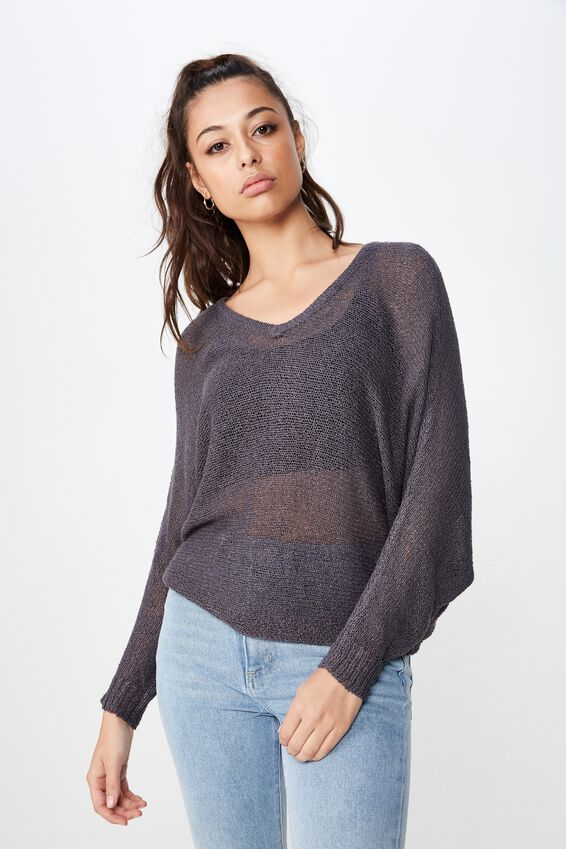 Jayden Lightweight Knit, GRANITE GREY