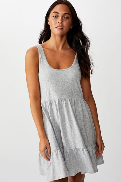 Sunny Tank Dress, GREY MARLE