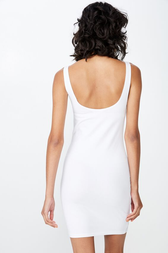 Bianca Thick Strap Mini Dress, WHITE