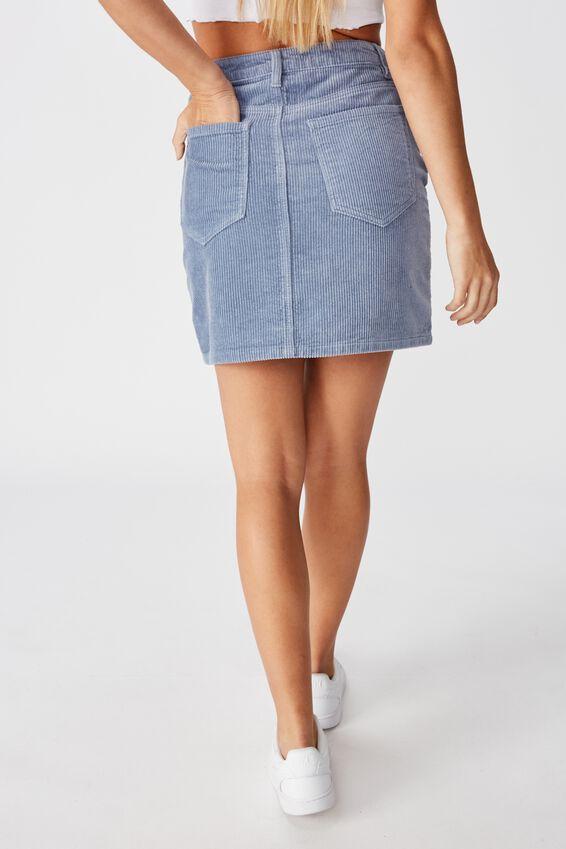 Remi Cord Mini Skirt, DUSK SKY BLUE