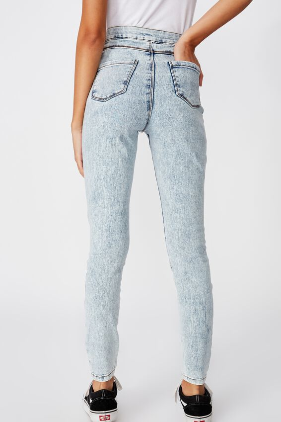 Super Skinny Sky High Ripped Jean, AQUATIC ACID