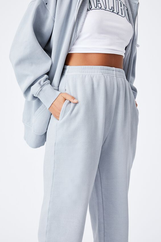 Cassidy High Waist Track Pant, WASHED BLUE FOG