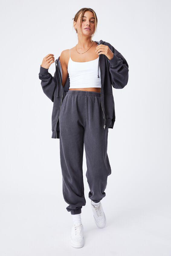 Zola Oversized Zip Through Hoodie, WASHED PHANTOM