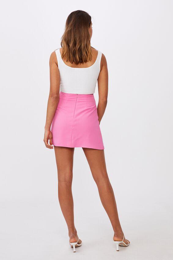 Natasha Waffle Skirt, PUNCH PINK