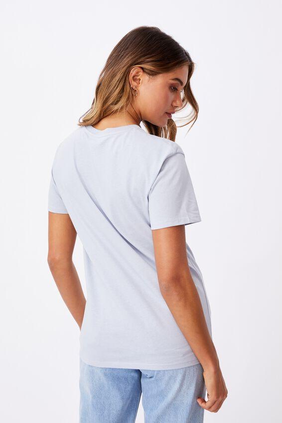 Lola Printed Longline T Shirt, BLUE FOG/PALOMAR