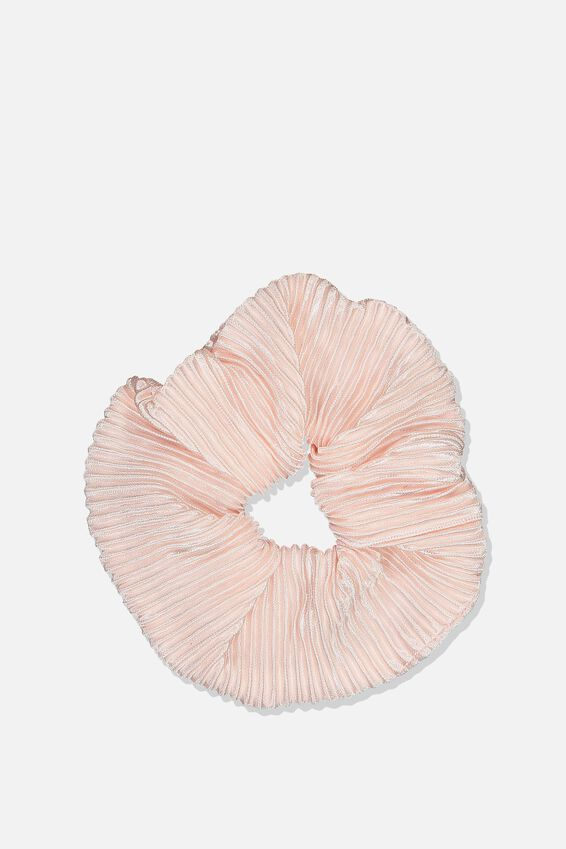 Pleated Scrunchie, PLEATED BLUSH