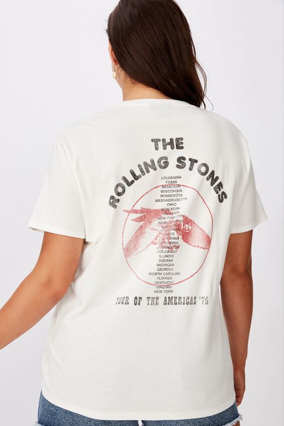 The Kendall Graphic Tee, OFF WHITE/ROLLING STONES BIRD
