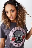 Guns N' Roses Tee, GRANITE GREY/GUNSN ROSES