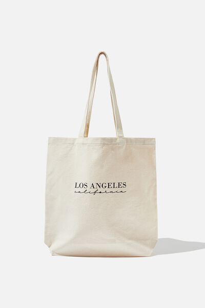 Canvas Tote, NATURAL/LOS ANGELES