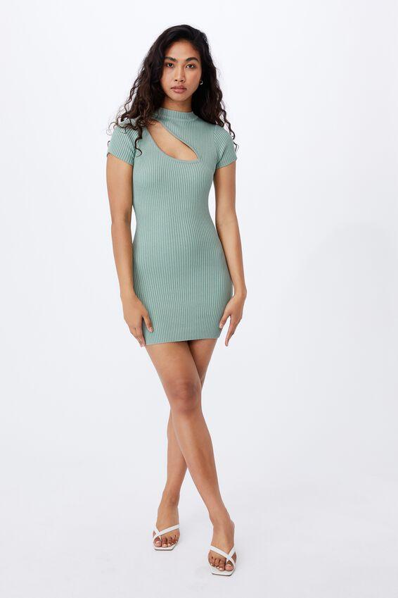 Mira Mini Dress, WILLOW GREEN