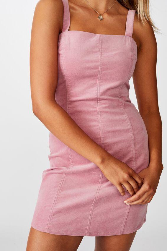 Sammie Wide Strap Dress, PINK ROUGE