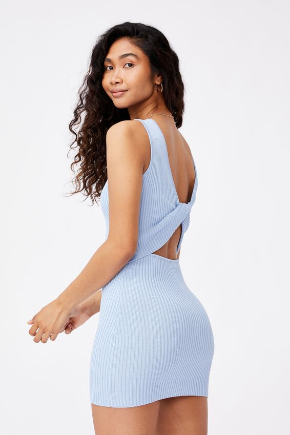 Pearl Reversible Mini Dress, BONNIE BLUE