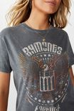 Ramones Tee, DARK GREY WASH/LCN MT RAMONES FOREVER EAGLE